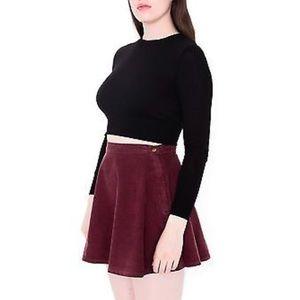 American Apparel Maroon Corduroy Skirt